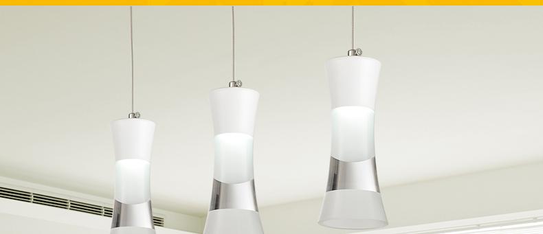 Creative restaurant lighting chandelier three led bar pendant luminaires pendant modern minimalist dining room lighting(China (Mainland))