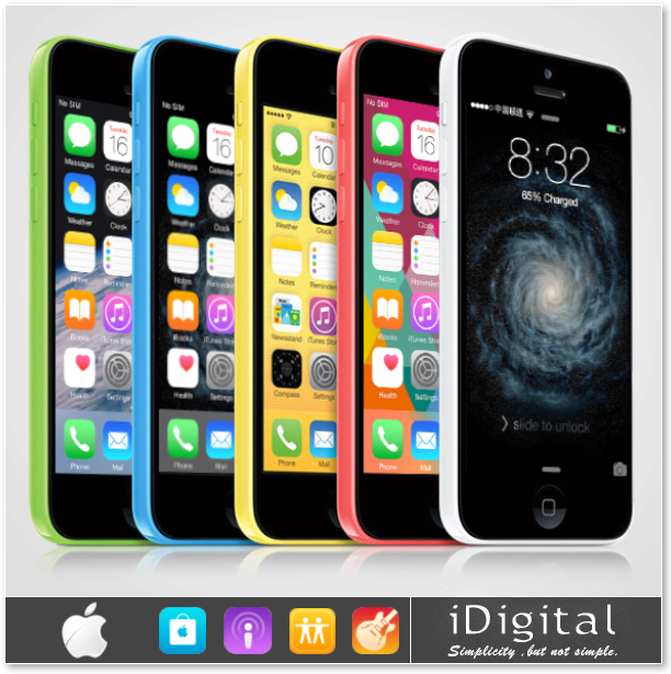 "Original Apple iPhone 5C Unlocked Mobile Phone 32GB Dual-Core IOS 8 Retina 4.0"" IPS 1GB 8MP 1080P GPS WIFI 3G WCDMA Smartphone(China (Mainland))"