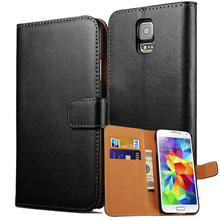 Buy Flip Wallet Case Samsung Galaxy S5 I9600 Coque Genuine Leather Card Holder Phone Bag Cover Samsung Galaxy S5 Cases for $2.19 in AliExpress store