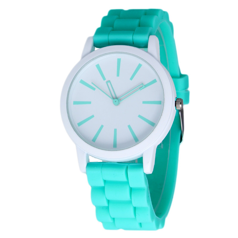 New Fashion Designer Geneva Ladies sports brand silicone watch jelly watch 17 colors quartz watch for women relojes mujer 299(China (Mainland))