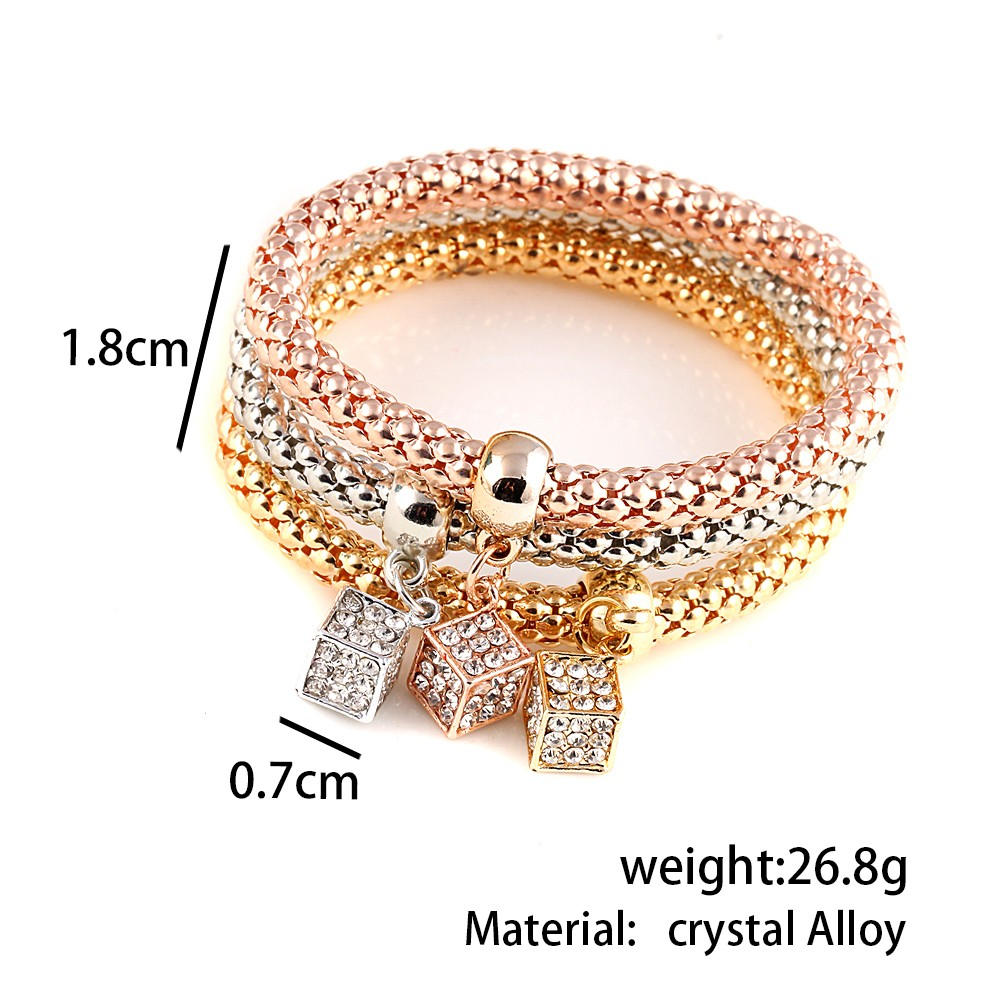 2016-Gifts-3Pcs-Gold-Filled-Heart-Charm-Elastic-Bracelets-For-Women-Pulseras-Bracelet-Cute-Multilayer-Bangles (3)