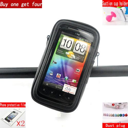 Здесь можно купить  5pcs Universal rotatable mobile waterproof bike stand phone case cover for HTC G18 sensation XE Z715E G14 Z710E   Телефоны и Телекоммуникации