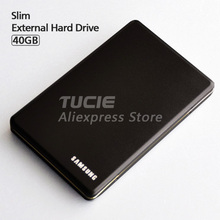 "Slim HDD 2.5"" USB2.0 40G External Hard Drive Desktop and Laptop Portable Disk Plug and Play Free Shipping"