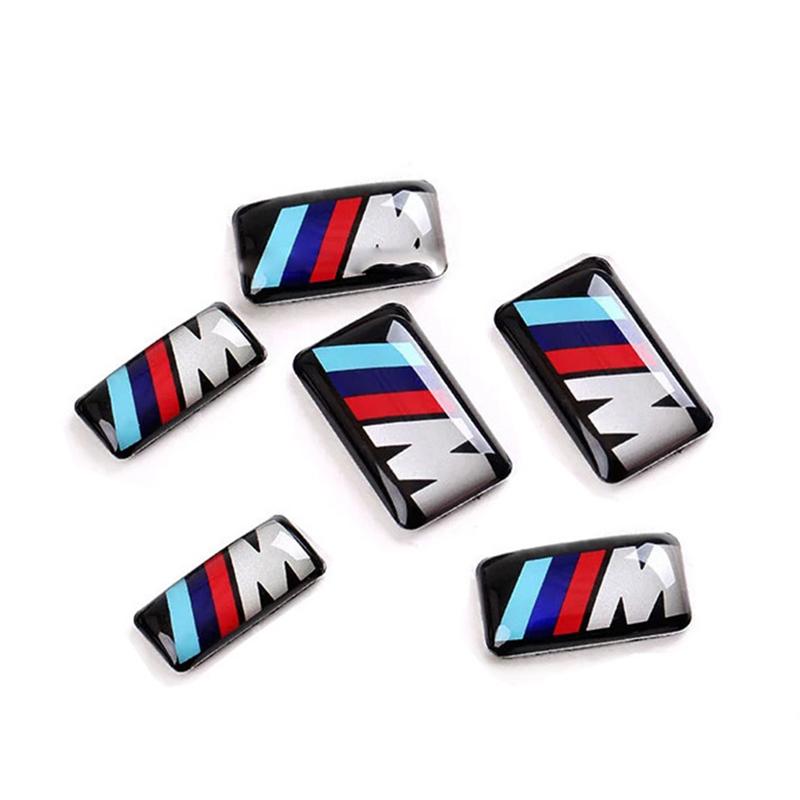 New Car styling small Decorative Badge Hub caps Steering wheel case for E39 E36 E60 E90 E34 BMW E46 Car Emblem Sticker(China (Mainland))