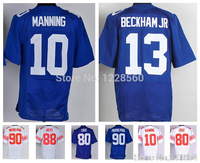 Newest 10 Eli Manning Youth Jersey 13 Odell Beckham Jr 80 Victor Cruz 90 Jason Pierre-Paul 88 Hakeem Nicks Kid Football Jersey(China (Mainland))