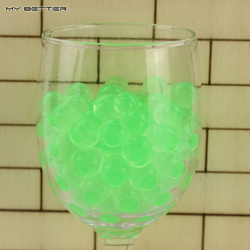 New Green Color 100pcs/Bag Crystal Mud Soil Water Beads Bio Gel Ball For Flower/Weeding/Deraction(China (Mainland))