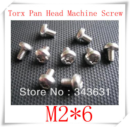 100PCS High Quality Stainless Steel 304 M2*6 Torx (Hexagon lobular socket) Pan Head Machine Screw<br><br>Aliexpress