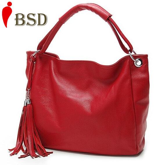 Women leather handbags Tassel shopping bag big bags genuine pu leather women shoulder bags women handbag