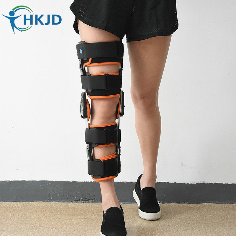 Adult Adjustable Knee Orthosis Ultra Knee Support With Bilateral Hinges Hinged Medical Knee Brace Patella Compression Kneepad