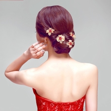 Vintage Hair Wedding Accessory 2016 Best Selling Chinese Red Hair Accessory Formal Dress Accessory diameter 4.5cm(China (Mainland))