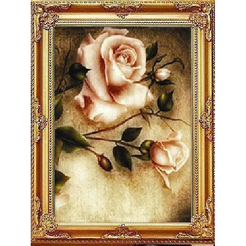 Needlework diamond painting diamond embroidery roses pictures of rhinestones Kits for embroidery with beads home decor(China (Mainland))