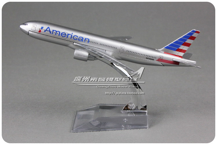 Brand New 1/400 Scale Airplane Model Toys American Airlines Boeing B777 (16cm) Diecast Metal Plane Model Toy For Gift/Kids(China (Mainland))