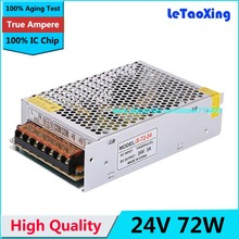 Buy Single Output Switching power supply 24V 3A 72W Transformer 110V 220V AC DC 24 V SMPS LED Strip Light Display for $11.80 in AliExpress store