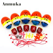 Anmuka 5sets Fishing Float Tube Buoy Sycamore Wood EVA Floats Fishing Bobbers Floats Set 0.5/ 0.8/1.0/1.5/2.0 B/2B/3B/4B/5B Box(China (Mainland))
