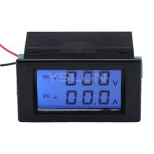 2in1 Volt /Ampere Meter DC 0~600V/50A Digital Voltmeter Ammeter DC 12V 24V Voltage Current Tester + Shunt Resistor(China (Mainland))