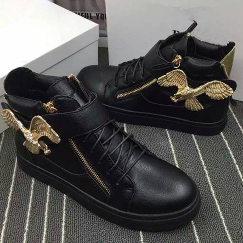 Black Yeezys Designer Aerial Bird Lace Up Gladiator Mens Chaussure De Sport Zipper Casual Mens Shoes Rubber Sole Shoes For Men