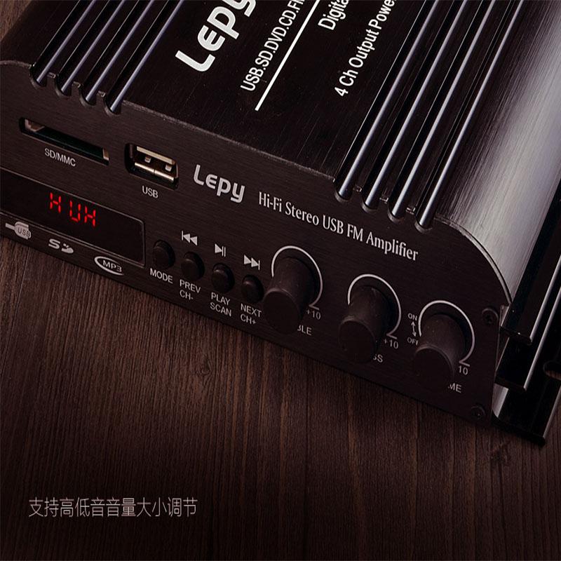 Купить VOXLINK Lepy LP-269FS 4x45 Вт Мини Bluetooth Аудио Стерео Мини Усилитель С USB/MP3/SD FM/дистанционного Управления 3A Адаптер Питания