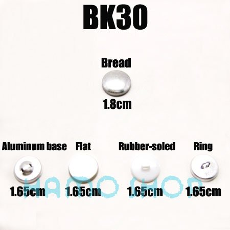 Fabric Self Covered Cover Buttons Aluminum Flat Plastic Ring Back #30 100pcs/lot(China (Mainland))