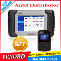 100% Original Autel DS708 Automotive Diagnostic and Analysis System Live data ECU programming ALL electronic systems+ CReader V+