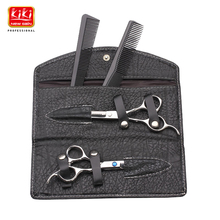 KIKI.Hair scissors.6.0 inch.Professional barber scissors with leather bag.HRC68.4CR stainless steel.Right-handed.Styling Tools(China (Mainland))