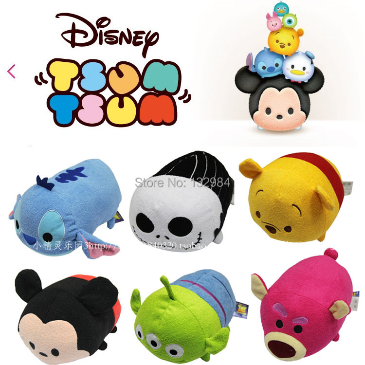 5pcs /Lot TSUM TSUM Plush Toys Mickey Minnie Winnie Dolls Anime Mobile Screen Cleaner Key Chain Bag Hanger for Mobile Phone Ipad(China (Mainland))
