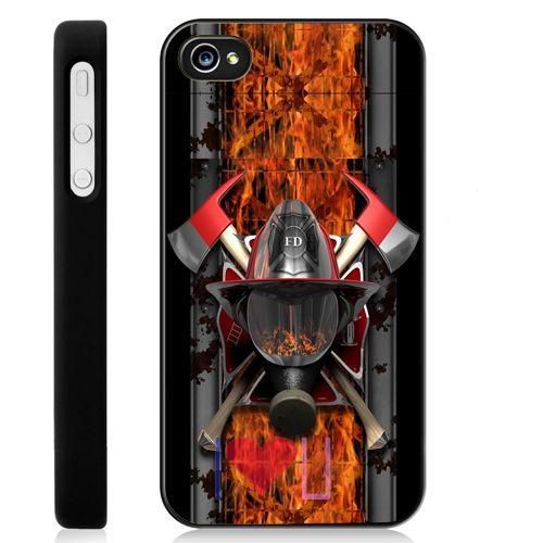 Firefighter Auto Accessories Logo back skins cellphone case cover fits for iphone 4/4s 5/5s SE 6/6s plus ipod touch4/5/6(China (Mainland))