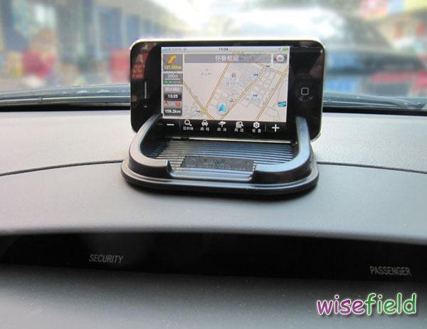 Non Slip Mobile Phone GPS Holder Black Car Dashboard Sticky Pad Mat Anti Gadget Interior Items Accessories(China (Mainland))