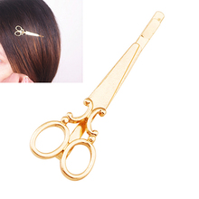 New Arrival Women's Trendy Creative Scissors Hair Clip Golden Color Hair Accessory Hairpin Fashion Leader' Choice
