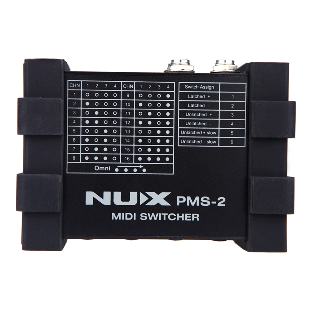 NUX PMS-2 MIDI Switcher Remote Control 6 Devices Compact Portable Guitar Switcher<br><br>Aliexpress