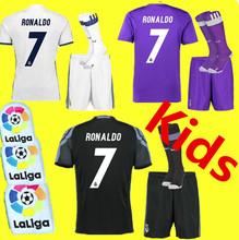 Kids Top thailand quality 2016 2017 shirts camisetas camisa reals madrides men soccer shirt 16 17 maillot foot-S,M,L,XL-ars(China (Mainland))