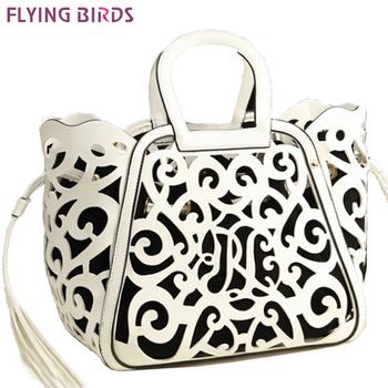 Летящие птицы! 2015 новая бесплатная доставка женщин пу кожаная сумка женщины сумка выдолбите вне тотем кисточкой LS1727