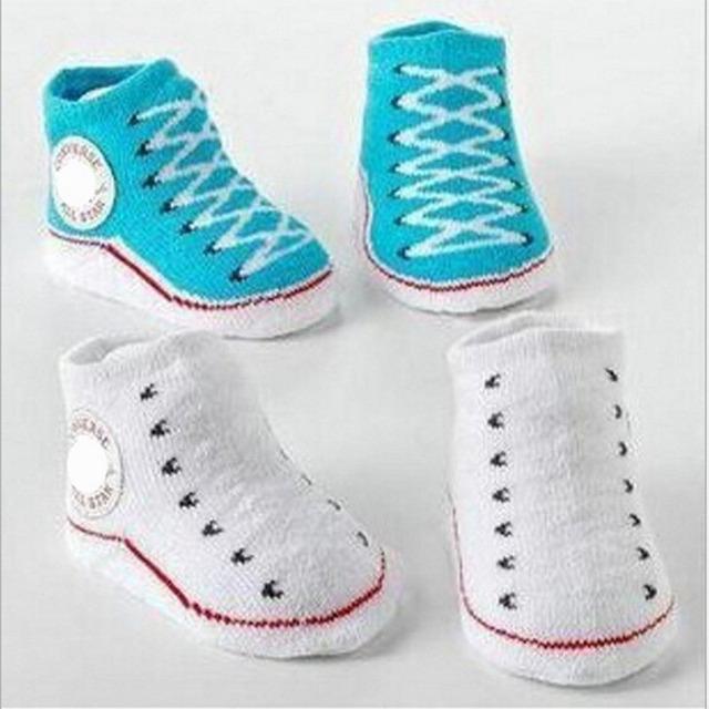 1 пара детские зима 100% хлопок носок детская non-slip носки детские 3M-1Year аксессуары