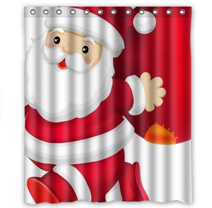 Custom Christmas Bath Curtains Fashion Home Decor