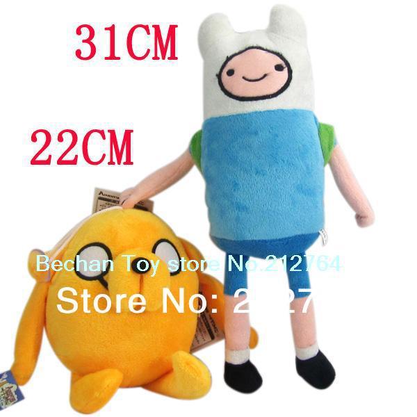 NEW Anime Adventure Time Finn Jake Plush Doll 11 inch soft figure Toys Stuffed animals Movice Cartoon Toy Anime plush 2 pcs/Lot(China (Mainland))