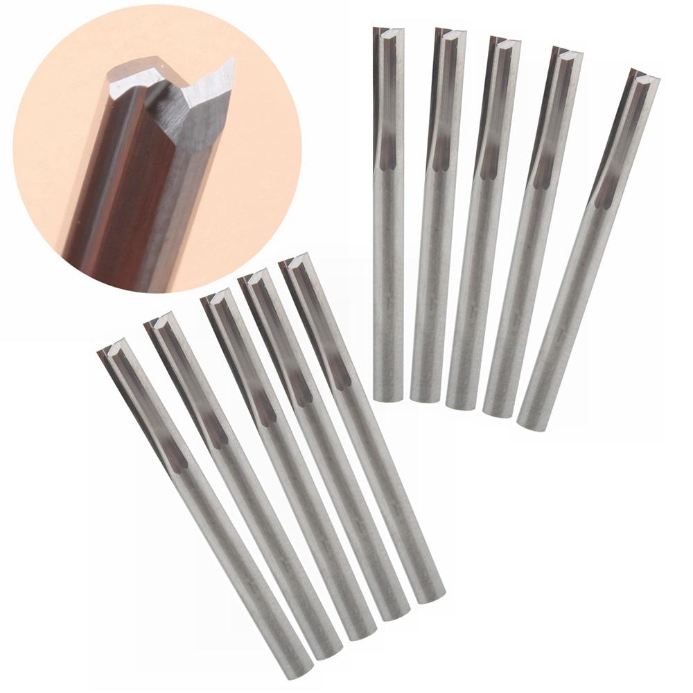 10pcs Double Flute Straight Slot Carbide Cutters CNC Router Bits 3.175 * 12mm(China (Mainland))
