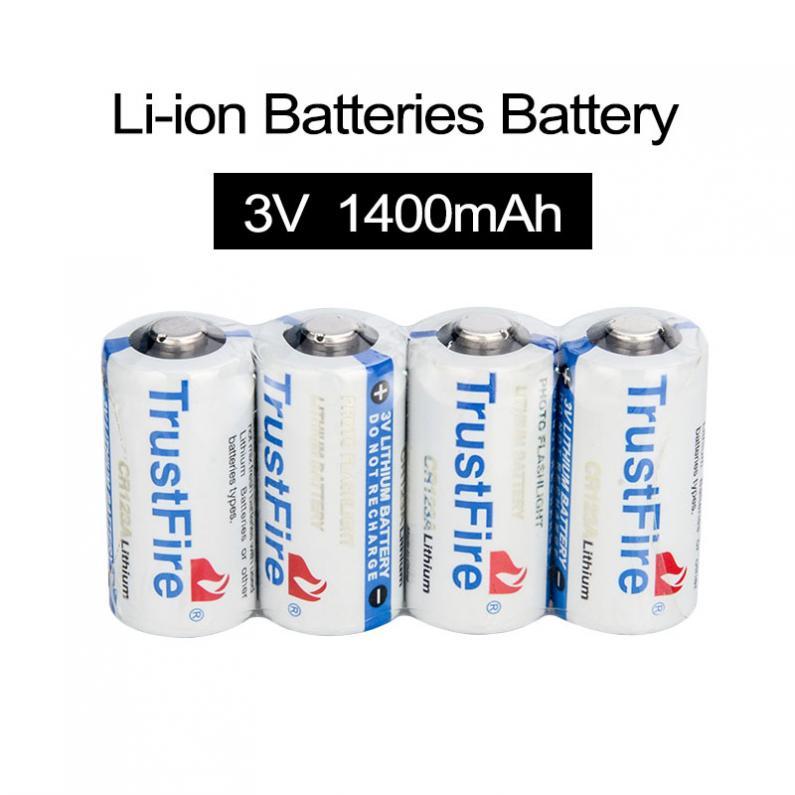 4pcs 3V 1400mAh 16340 CR123A Lithium Battery for LED Flashlights Headlamps(China (Mainland))