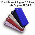 For iPhone 7 7plus Case Fashion Rubberized Matte Frosted Plastic Case For iPhone 6 6s Plus