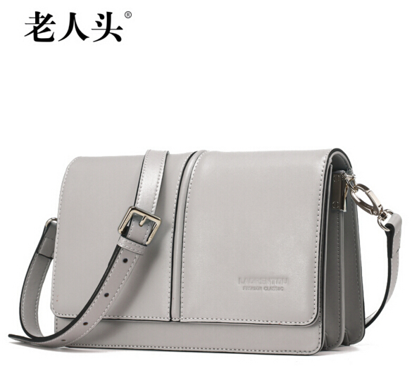 LAORENTOU famous brands women bag 2016 new genuine leather bag Top Quality fashion women Messenger Bags Gray pink black beige(China (Mainland))