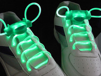 5 Pairs/Lot Generation 2 Flashing Shoelaces Luminous Party Hip Hop Shoelace 6 Colors for Choice Free Shipping