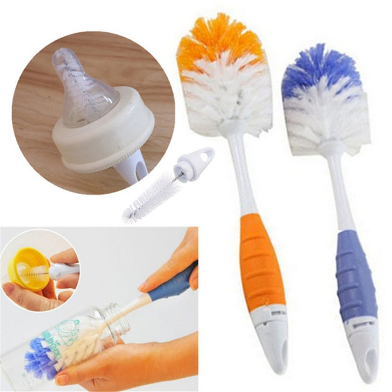 Baby Bottle Brushes for Cleaning Kids Milk Feed Bottle Nipple Pacifier Nozzle Spout Tube Cleaning Brush Sets