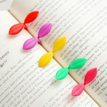 S06 2x Cute Kawaii Seeding Leaf Bookmarks Paper Clip Decorative Book Clip Stationery Shool Supplies Student Gift Rewarding(China (Mainland))