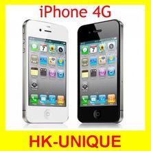 Разблокирована оригинальный iphone 4 г 8 ГБ 16 ГБ 32 ГБ мобильный телефон WIFI GPS 5-мп камерой бесплатная доставка(China (Mainland))
