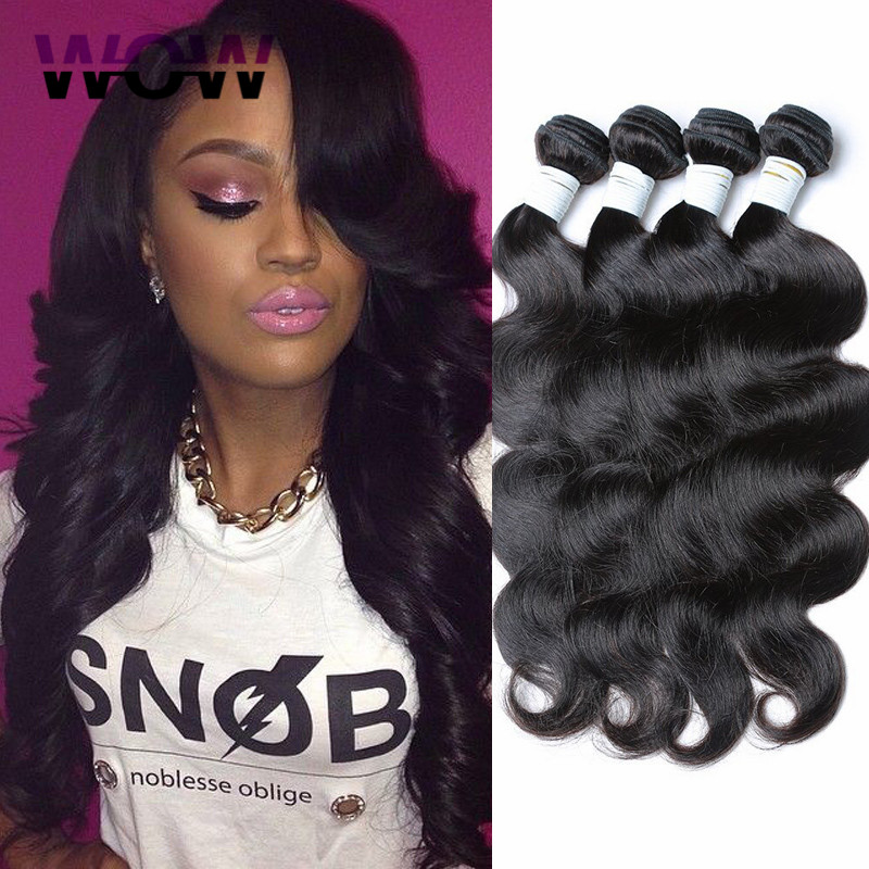 8A brizilian virgin hair body wave 3 piece lot unprocessed human hair whole sale brazilian 100 bundles paypal free shipping(China (Mainland))