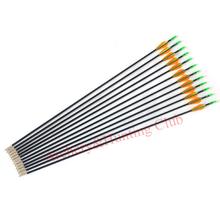 12pcs outerwear fixed arrow tips and nocks fiberglass arrow shaft target archery arrows 6mm OD recurve