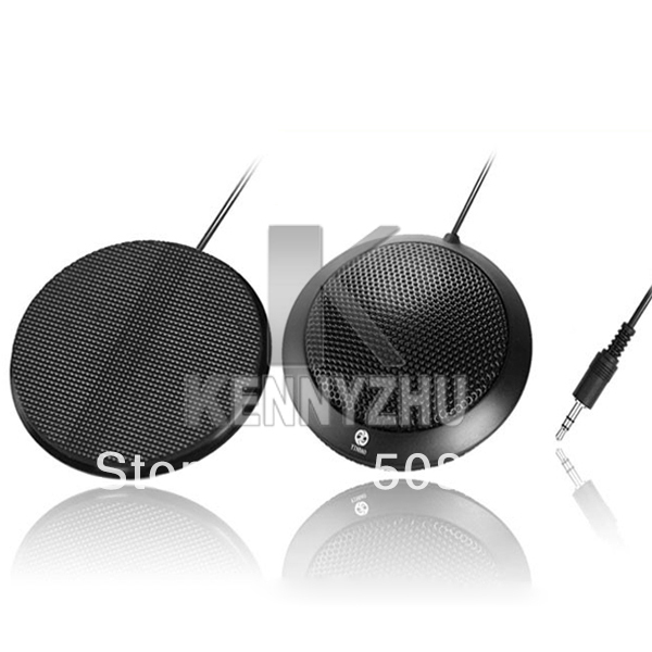 HIFI PC Multimedia Network Song Capacitance Stereo Desktop Microphone Black for Online Chat Video Conference Free Shipping(China (Mainland))