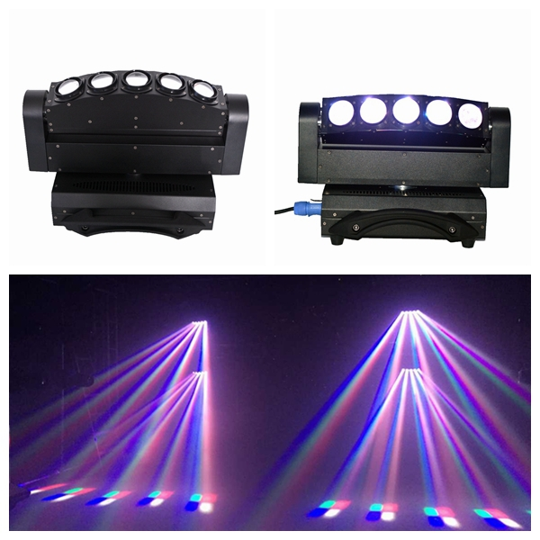 New DJ Light LED Moving light 5 Eyes RGBW 4in1 Beam Light DMX Stage Light DJ Equipment(China (Mainland))
