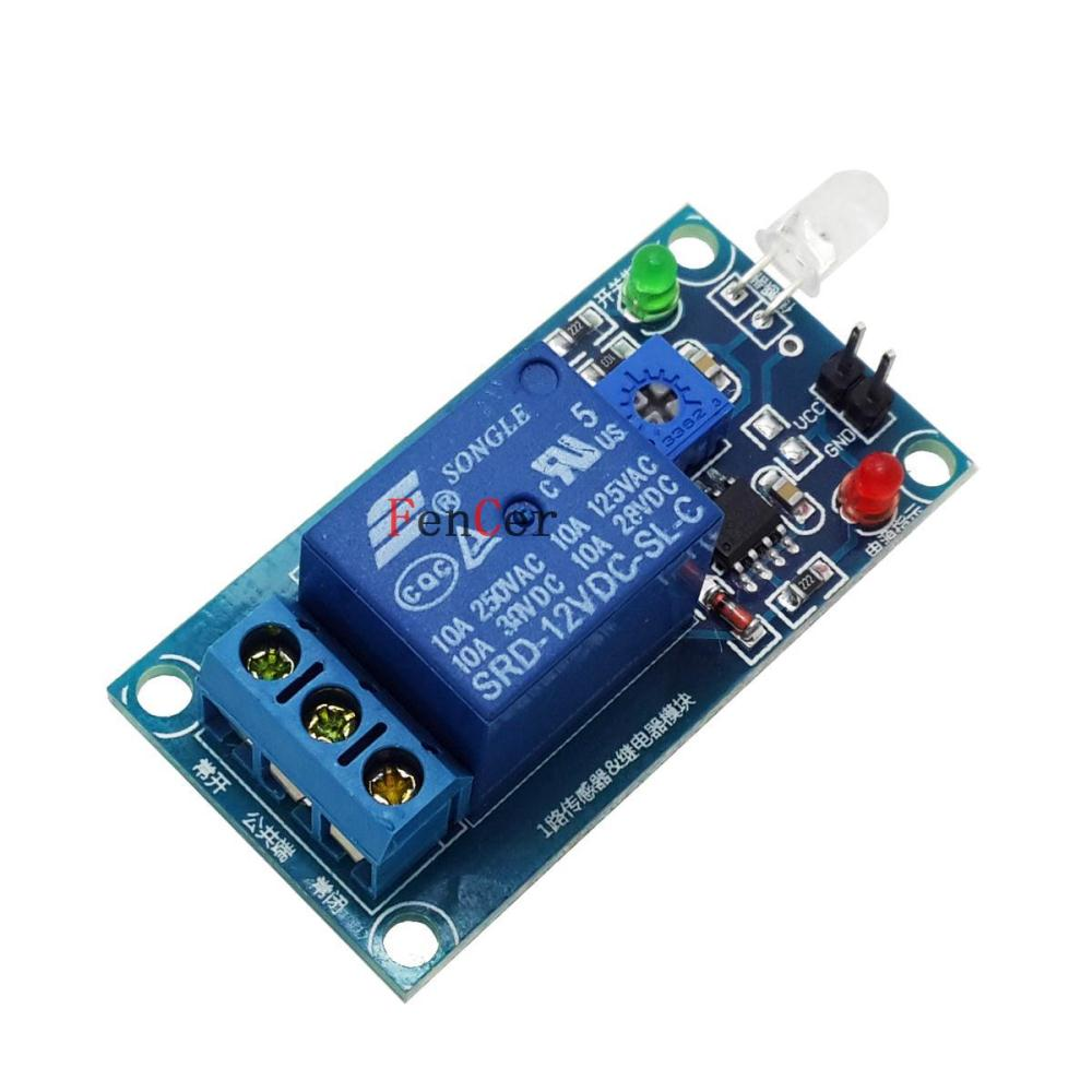 1Hit 5 v light-operated switch for light module photodiode sensors relay module light detection Brazil(China (Mainland))