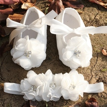 Ivory Party baptism Ballerina set booties rhinestone baby shoes first walker,baby moccasins,kids girls shoes for baby #2B1932(China (Mainland))