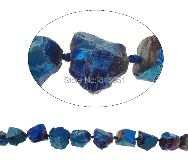 Free shipping!!!Natural Quartz Bead,Cute, Nuggets, colorful plated, 21-28mm, Hole:Approx 2.5mm, Length:Approx 15.7 Inch<br><br>Aliexpress