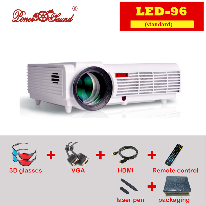 2 color Luxury Brightness 5500 Lumens Long life LED lamp Full HD LED home cinema projector 3D lcd Multimedia video Projector(China (Mainland))